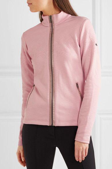 Kjus - Madrisa Flocked Stretch-jersey Top - Pastel pink - FR46