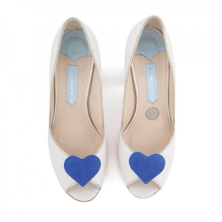Zapatos de Novia Peep Toe con tacón block modelo Andrea Royal de Charlotte Mills ➡️ #LosZapatosdetuBoda #Boda