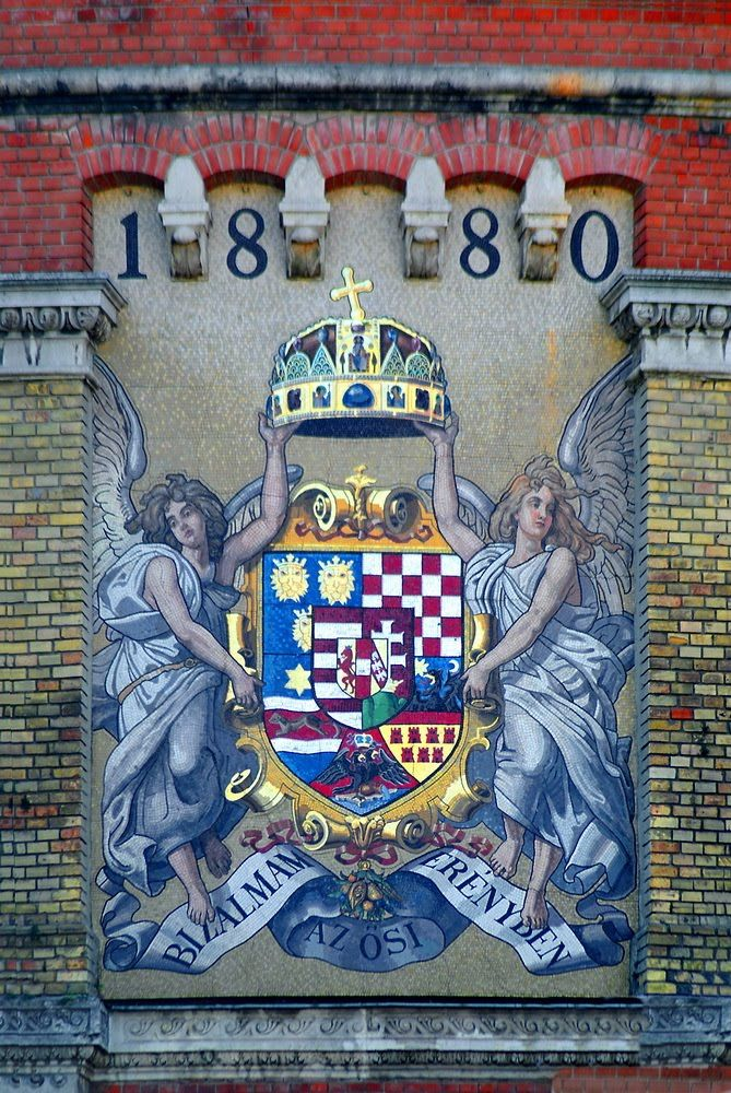 The giant coat of arms - Budapest
