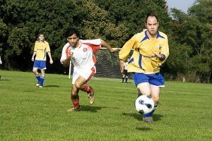 Soccer is a great workout, and it is entertaining and easy to learn