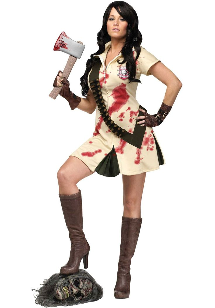 womens zombie hunter costume killer girl scout halloween costumes at escapade - Unique Halloween Costume Women
