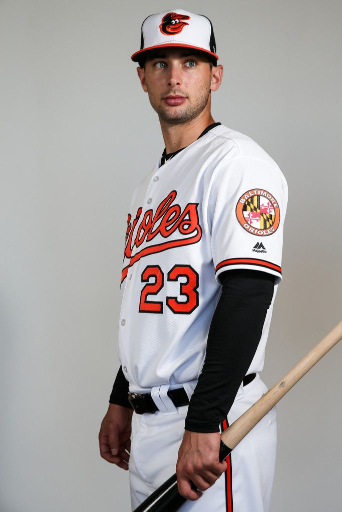 Joey Rickard #23 of the Baltimore Orioles poses for a portait during a MLB photo day at Ed Smith Stadium on February 20, 2017 in Sarasota, Florida.