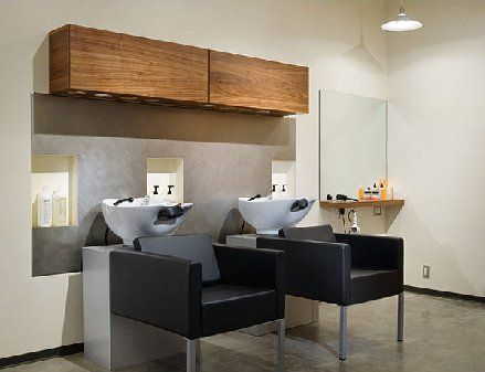 modern industrial home interior for a cozy hair salon lovely area of the washing hair beauty salon designsalon - Beauty Salon Design Ideas