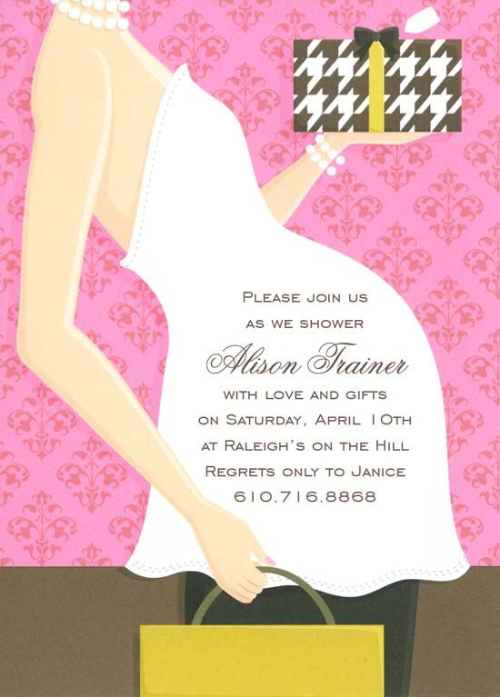 Pink Belly Baby Shower Invitation | Party Ideas | Pinterest
