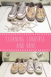 How to wash and clean Converse and Vans shoes.  Wash your favorite shoes in the washing machine quickly and easily.