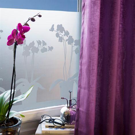 Orkidé window screen film - 34x98 cm - Siluett Frost