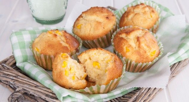 Whip up these fluffy Cornbread Muffins in just a few easy steps. Recipe courtesy of Six Little Hearts.  #baking #snack #muffins