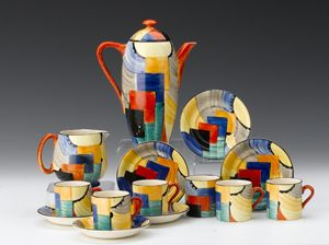 Clevedon Salerooms - Fine Arts Auctioneers and Valuers Susie Cooper coffee set  Sold for £2,150 (2013)  http://www.clevedon-salerooms.com/gallery.aspx