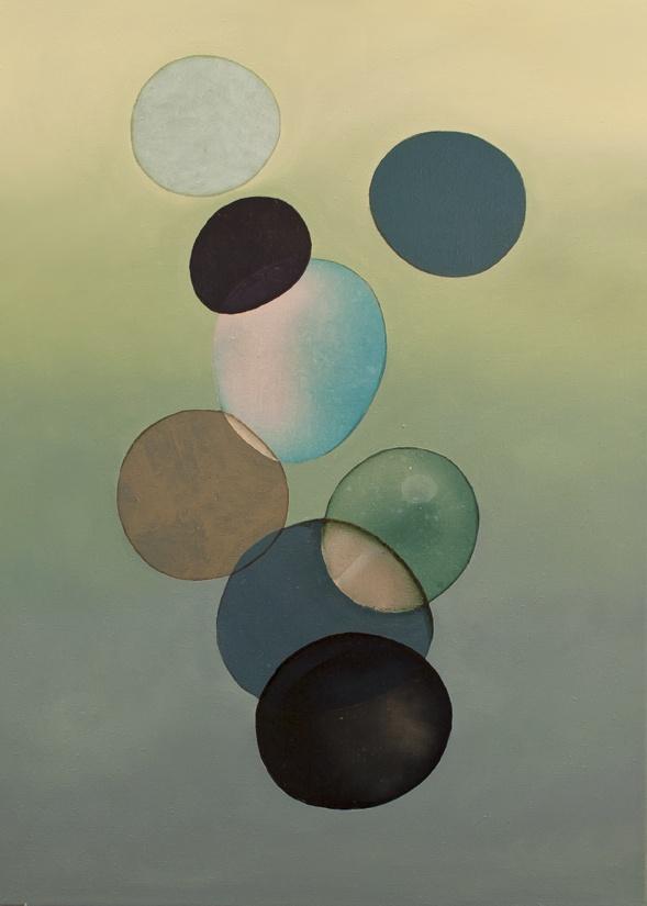 2012-022 • pithari - pithari 4 - 100 x 70 cm - oil and lacquer on canvas - olaj, lakk, vászon - romvári márton contemporary art
