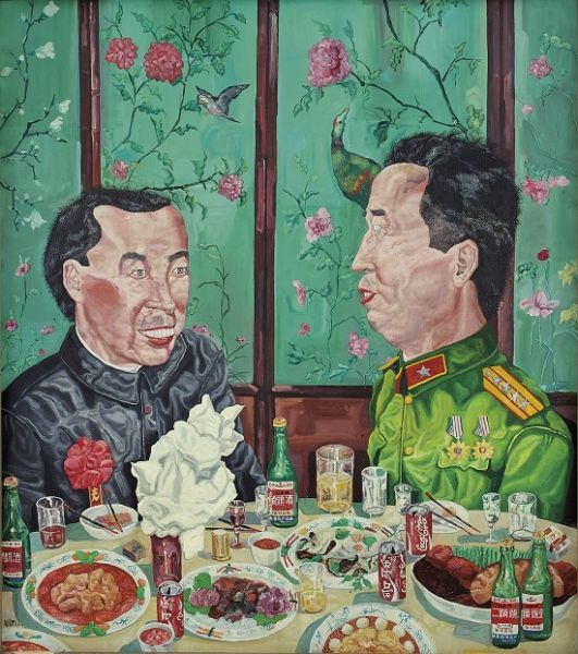 Liu Wei - oil on canvas - 183 x 163 cm - 1992 - China