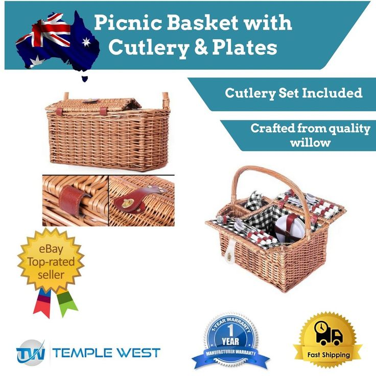 Picnic Basket Set with Blanket Outdoor Camping Stainless Steel Picnic Set