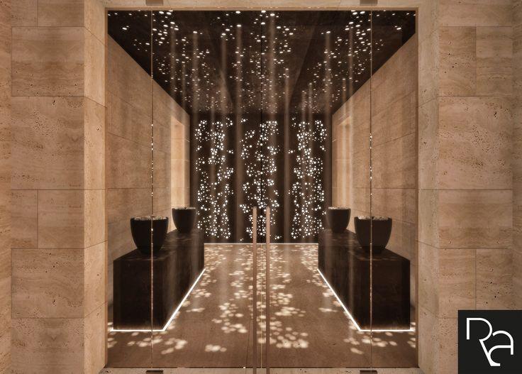 Private Spa Interior Design Rendering