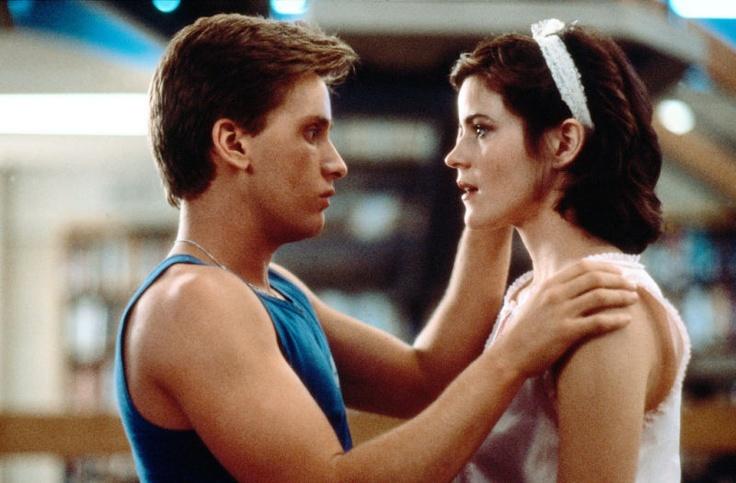 Emilio Estevez (as Andrew Clark) and Ally Sheedy (as Allison Reynolds) in The Breakfast Club