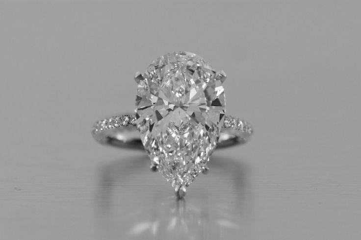 2CT Perfect Pear Cut Solitaire Russian Lab Diamond Promise Engagement – Joy Of London Jewels