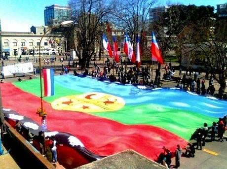 Mapuches movilization in Santiago of Chile #mapuches #mapuche #mapundung #peñi #Chile