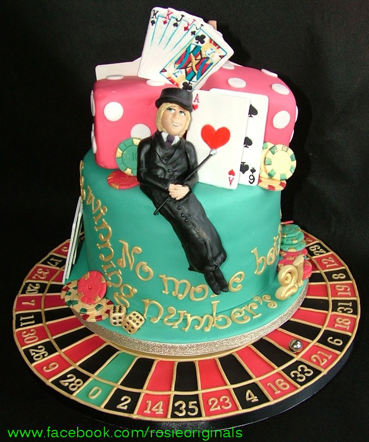 Casino Cake with spinning roulette wheel :)