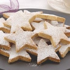 Delia's christmas (walnut) shortbread stars