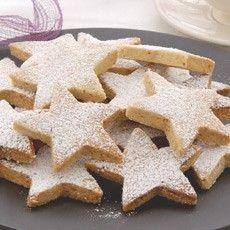 Delia's christmas (walnut) shortbread stars