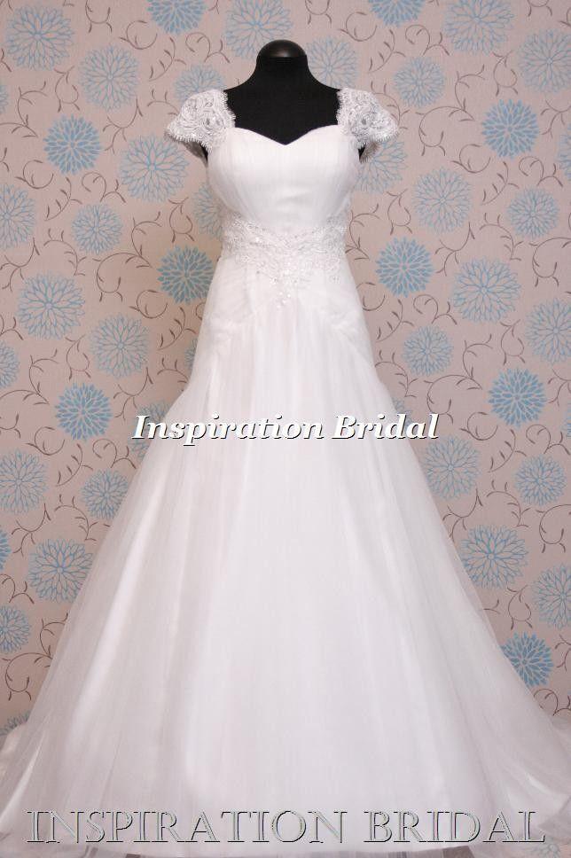 1387 vintage 1920 1930s inspired dropped waistlines Anjolique Wedding Dresses C156