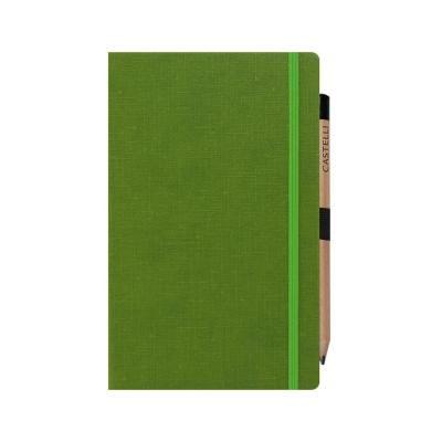 Image of Embossed Castelli Eldorado Medium Notebook With Retro Look Pencil