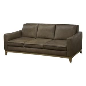 Contemporary Leather Sofa in Taupe | Nebraska Furniture Mart