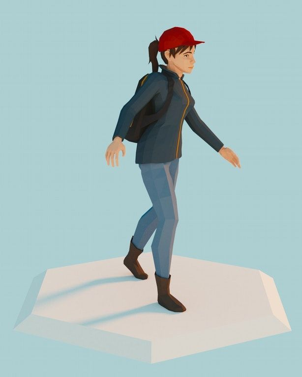 My first lowpoly human character that doesn't look like total retard