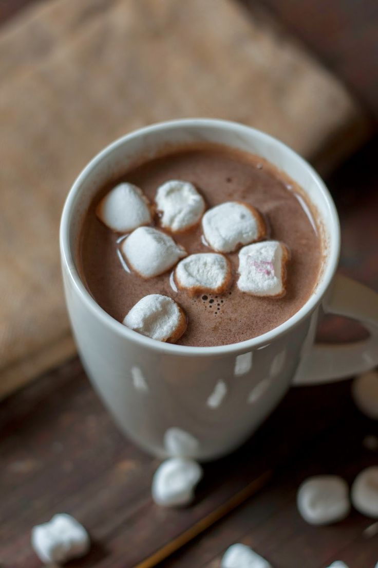 warm chocolate with nutella.
