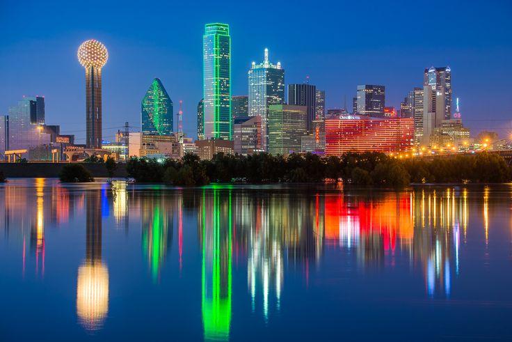 Dallas Skyline Reflections #Dallas