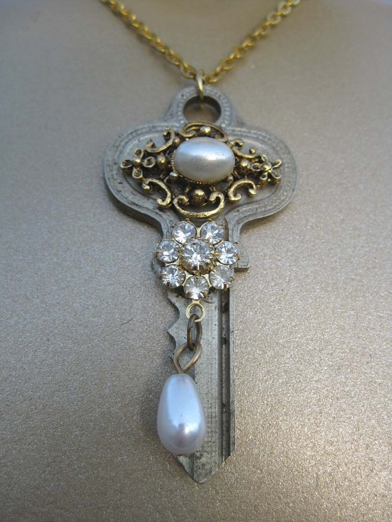 When KEYS Play Dress UP a Vintage Repurposed by VeryEpicJewelry, $16.00