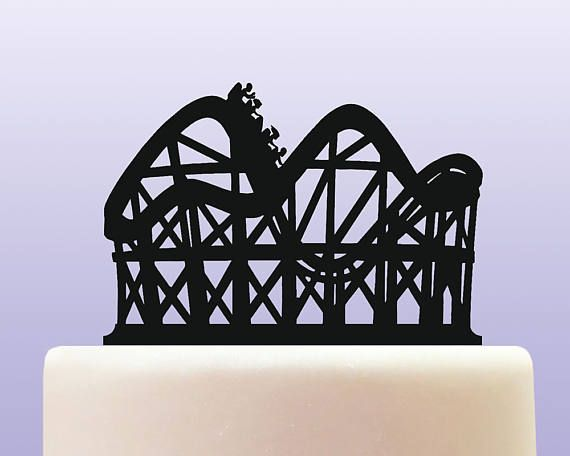 Acrylic Roller Coaster Fairground Cake Topper Etsy Roller Coaster Roller Coaster Cake Roller Coaster Party