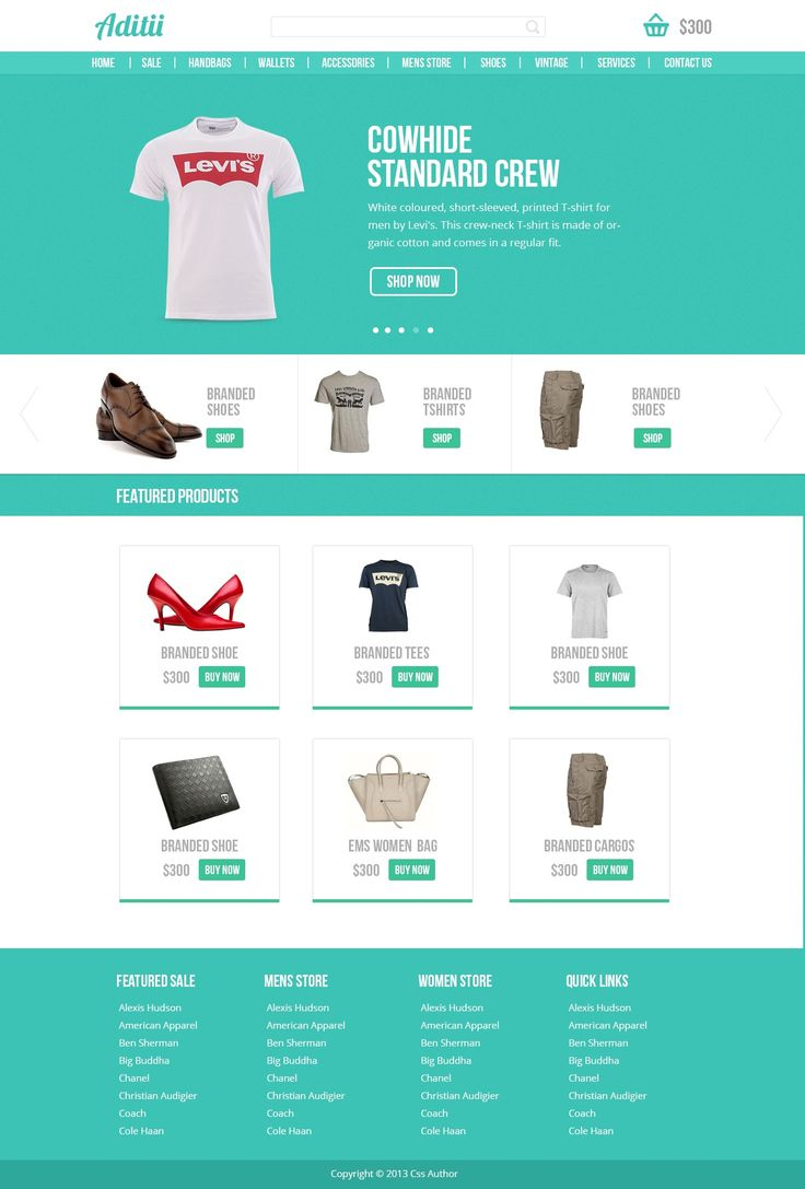 Free Ecommerce Website PSD Template