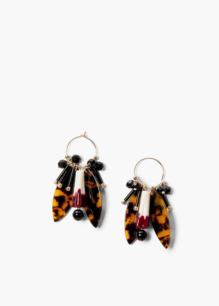 Bead loop earrings - Jewellery for Women | MANGO