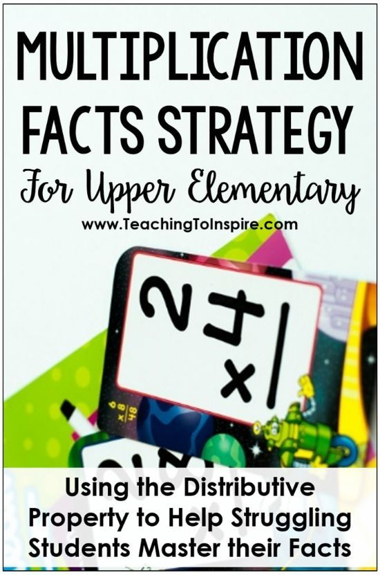 This post describes how using the distributive property of multiplication (with a bit of scaffold) can help your struggling students master their multiplication facts. Grab some free printables on this post!