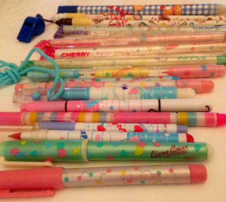 Vintage 1980's pens n pencils x