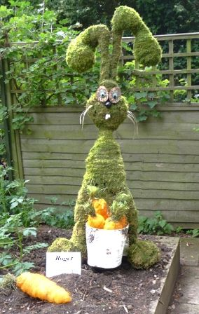 """Roger Rabbit"" made out of moss."