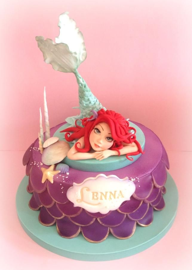 Little Mermaid cake - For all your cake decorating supplies, please visit www.craftcompany.co.uk