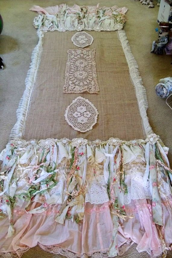 Large runner table linen burlap salvaged by AnitaSperoDesign, $480.00