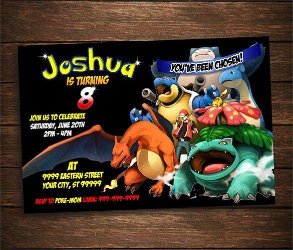 Pokemon Birthday Invitations Template Elegant 9 Pokemon Card Templates Psd Ai Pokemon Invitations Pokemon Birthday Party Pokemon Birthday