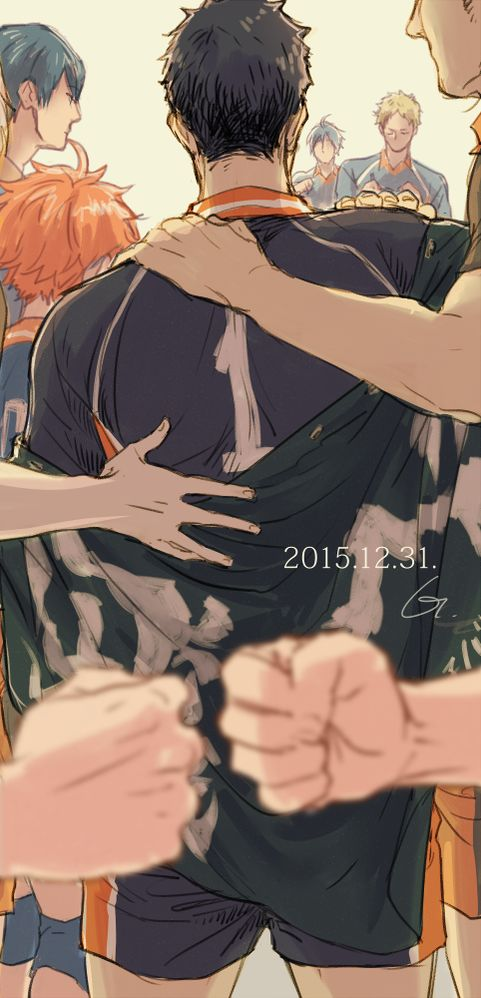 I'm not meaning to ruin this happy moment, but dAng , Daichi from the behind is so beautiful.