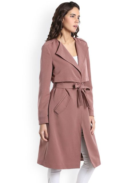 7af720c6a07d Vero Moda Women Taupe Trench Longline Coat - Coats for Women 2271347
