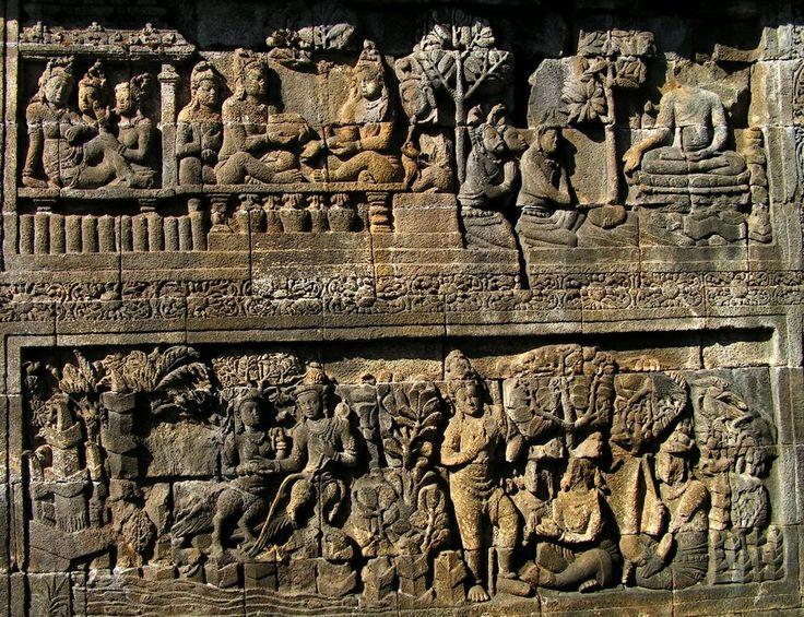 Borobudur temple reliefs
