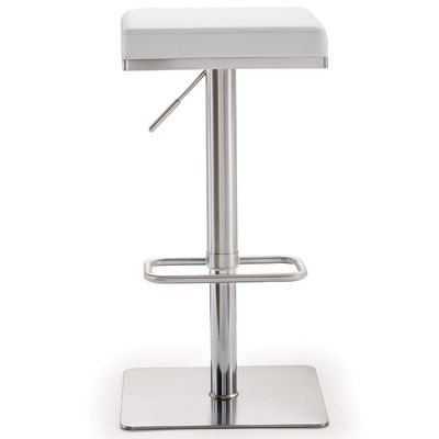 TOV Bari Adjustable Height Swivel Bar Stool with Cushion & Reviews | Wayfair