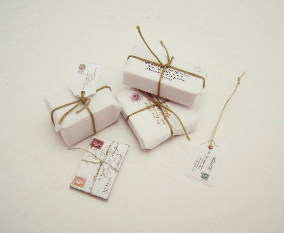 Miniature White Set postal by MontserratFolch on Etsy, €9.00 http://www.pinterest.com/mrblackisback/