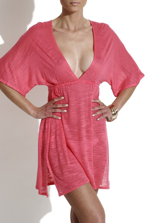 The transparent tunic by Vitamin A is a real favourite for your beach vacation. $135