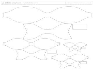 Fiocchi di carta fai da te: tutorial e modello da stampare | Creare con la carta ♥