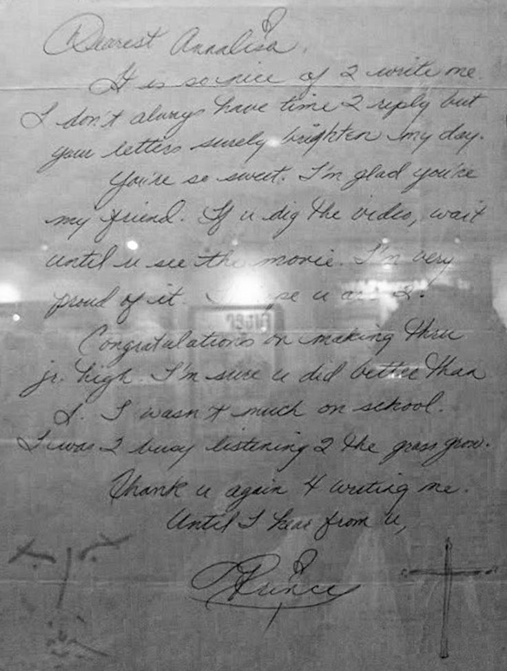 """Okay, so this letter from Prince to a young fan is kind of everything. 