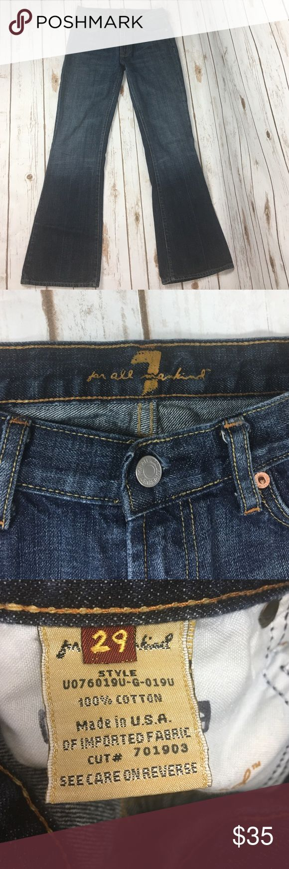 Seven jeans.  Flare. Sz 29.  Excellent condition. Seven jeans.  Flare. Sz 29.  Excellent condition. Inseam 30.75 in.  Rise is 8.5 inches. Seven7 Jeans Flare & Wide Leg