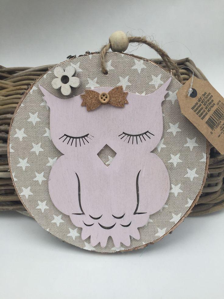 Decoratie #uil #babykamer #kinderkamer Kraamkado #kraamcadeau #baby #babykado #geboortekado #babykamer #babyshower op www.hummelkado.nl