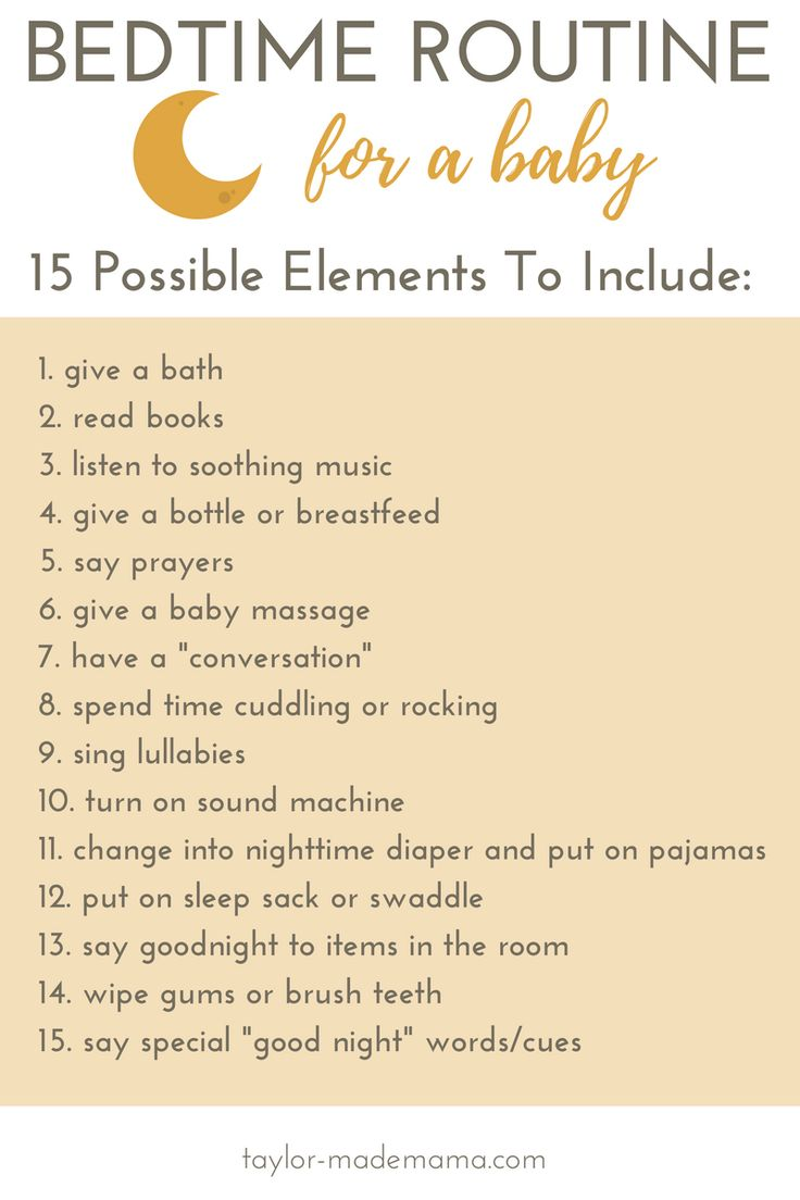 How To Create A Bedtime Routine For A Baby