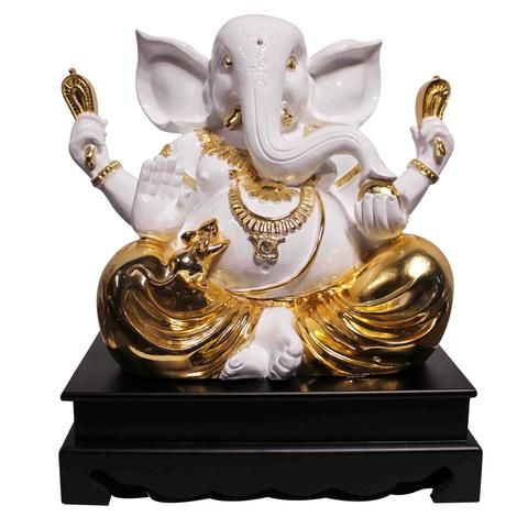 Blessings Ganesh - Marble look with Colored Electroplating , made of Polystone. #Buy #Indian #Spiritual #Idols #Online from our Craftsvenue and express your love and affection for the God.